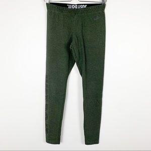 Nike Sportswear athletic yoga leggings olive green